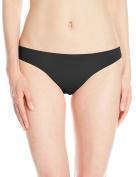 Zinke Women's Katie Ruched Back Bikini Bottom, Black, Large