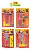 Exclusive Toy Tool Set for Little Fixer-Man Kids - 4 Individual packs of Assorted Tools Included