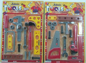 Kids Tool Set Toy 2-in-1 Fixer Man Tools for Children's Realistic Pretend Play Game of Fixing Fun