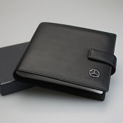 Mercedes Benz PU Leather CD Case 20 Capacity Car DVD Holder Disc Disc Storage Carry