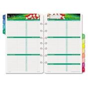 DayTimer Two Page per Week Refill 2017, 12 Months, Loose Leaf, Desk Size, 14cm x 22cm , Garden Path