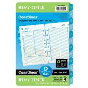 DayTimer Two Page per Day Refill 2017, 12 Months, Loose Leaf, Desk Size, 14cm x 22cm , Coastlines