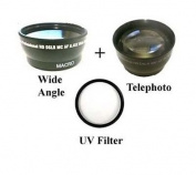 Wide Lens + Tele + UV for Sony HDR-FX1, Sony HDR-FX1000, Sony HVR-S270, Sony HVR-Z1, Sony HVR-Z5, Sony HVR-Z7