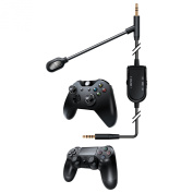 dreamGEAR BoomChat Detachable Cable + Boom Mic - Xbox One, Playstation 4, Nintendo Wii U, Android & Windows