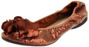 Wanted Shoes Women's Gangster Ballerina Flat,Bronze,5.5