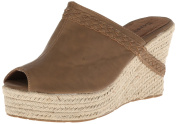 Bearpaw Women's Jasmine Camel Ankle-High Pleather Sandal - 10M