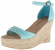 Bearpaw Women's Blossom Tiffany Blue Ankle-High Fabric Sandal - 6M