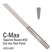 GRS® Tools 022-682 C-Max Carbide Tapered Round Graver # 52 0.6mm