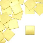 ImpressArt, Square Stamping Blanks, Brass, 1.3cm - 24 pc.