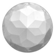 Stained Glass Jewels - 30mm Round Double Faceted - Clear
