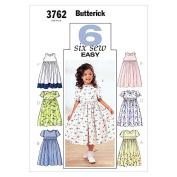 Butterick Patterns B3762 Childrens' & Girls' Dress, Size 2-3-4-5