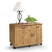 Amber Pine Sauder Sewing and Craft Table, Pine Finish