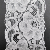 10 yards 8.3cm Wide Polyester Floral Pattern Embroidery White Lace Trims