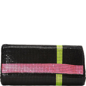 Whiting and Davis Neon Stripes Clutch
