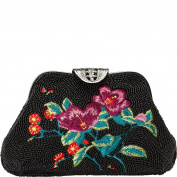 Inge Christopher Floral Embroidery Beaded Clutch