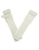 Dahlia Women's Angora Blend Long Arm Warmer Gloves - Winter White