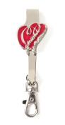 Finders Key Purse Double Heart Key'P It Up Purse Hanger Keychain