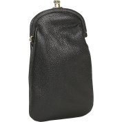 Budd Leather Classic Leather Double Eyeglass Case