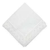 CTM Womens Cotton Chapel Lace Handkerchief