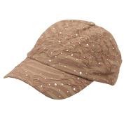 Glitter Caps-Khaki