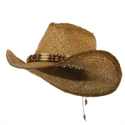 Outback Tea Stained Straw Hat-Shade Off Tea Stain