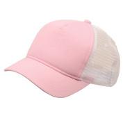 Short Bill Trucker Cap-Pink White