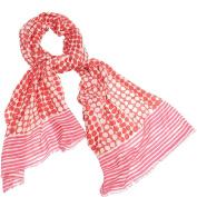 Kinross Cashmere Dots & Stripes Print Scarf