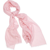 Kinross Cashmere Solid Cheque Scarf