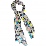 Kinross Cashmere Floral Print Scarf