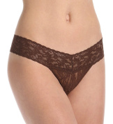 Hanky Panky Women's Signature Lace Low Rise Thong Chestnut Thongs One Size