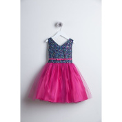 Sweet Kids Fuchsia Sequin Tulle Special Occasion Dress Girls 10