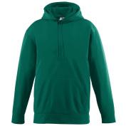 Augusta Sportswear BOYS' WICKING FLEECE HOODED SWEATSHIRT L Dark Green