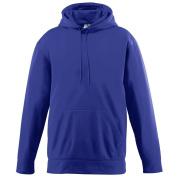 Augusta Sportswear BOYS' WICKING FLEECE HOODED SWEATSHIRT M Purple
