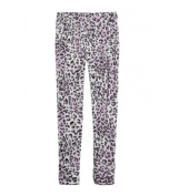 Justice Girls Printed Stretch Athletic Track Pants 672 5x17