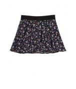 Justice Girls Floral Glitter Skater Mini Skirt 610 5