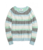 Justice Girls Fuzzy Stripe Pullover Sweater 634 5
