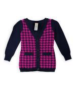 Gymboree Girls Houndstooth Cardigan Sweater brightberry S