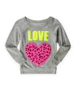 Justice Girls Love Heart Pullover Sweater 603 5