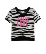 Justice Girls Zebra Crop Knit Sweater 670 5