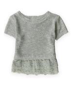 Justice Girls Lace Peplum Knit Sweater 633 5
