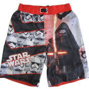 Star Wars Little Boys Red Black Character Graphic Print Swimwear Shorts 4