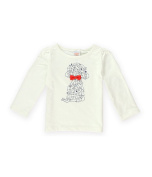 Gymboree Girls Puppies Bow Graphic T-Shirt 001 2T