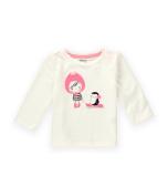 Gymboree Girls Penguin Sled Embellished T-Shirt 001 6-12 mos