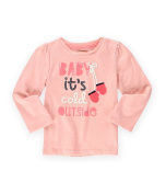 Gymboree Girls Baby, It's Cold Outside Embellished T-Shirt 001 6-12 mos