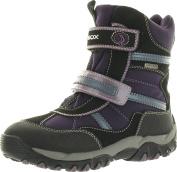 Geox Girls Alaska B Waterproof Winter Fashion All Weather Snow Boots,Purple/Black,31