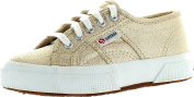 Superga Girls 2750 Lamej Classic Lace Up Fashion Sneakers,Gold,27