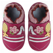 Momo Baby Infant/Toddler Soft Sole Leather Shoes - Candy Pocket Pink