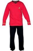 Star Trek Adult Scotty Officer Uniform Red Pyjama Set X-Large
