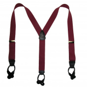 CTM Mens Elastic Button-End Y-Back Suspender with Bachelor Buttons