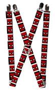 Buckle Down Mens Elastic 2.5cm Wide Clip-End Marvel Spider-Man Suspenders